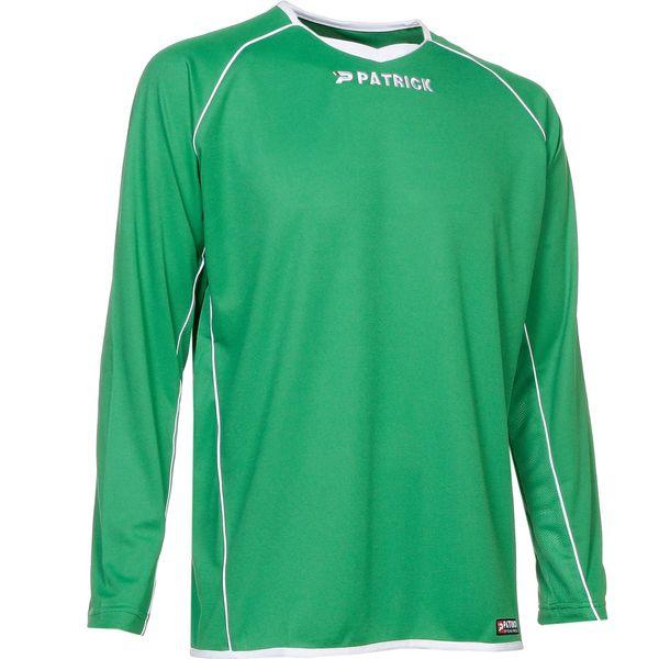 Patrick Girona105 Voetbalshirt Lange Mouw Heren - Groen / Wit