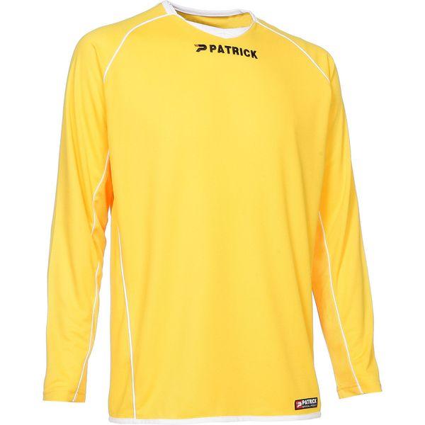 Patrick Girona105 Voetbalshirt Lange Mouw Heren - Geel / Wit
