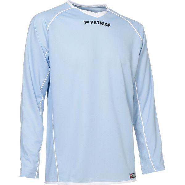Patrick Girona105 Voetbalshirt Lange Mouw Heren - Lichtblauw / Wit