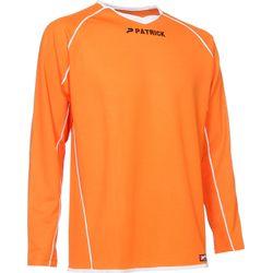 Patrick Girona105 Voetbalshirt Lange Mouw - Oranje / Wit
