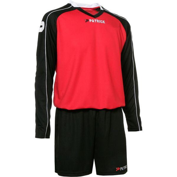 Patrick Granada305 Voetbalset Lange Mouw Kinderen - Rood / Zwart / Wit