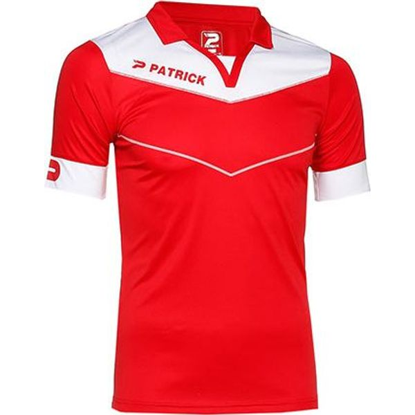 Patrick Power Shirt Korte Mouw Heren - Rood / Wit