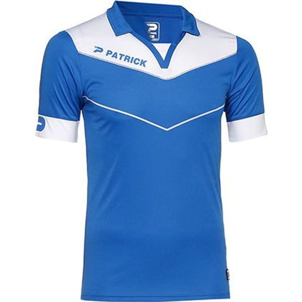 Patrick Power Shirt Korte Mouw Heren - Royal / Wit