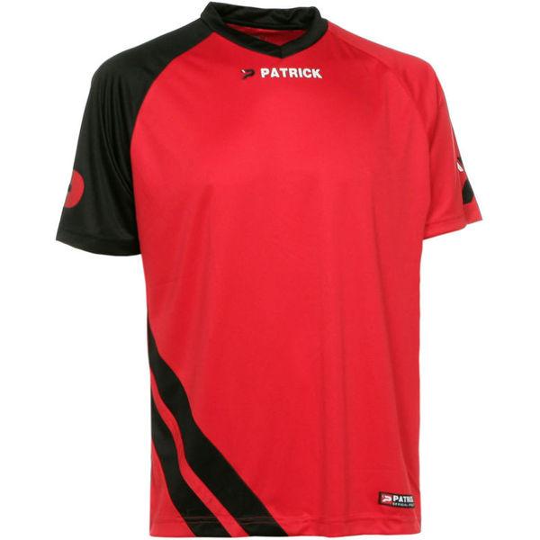 Patrick Victory Shirt Korte Mouw Heren - Rood / Zwart