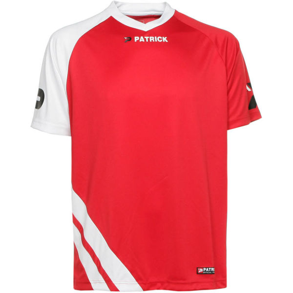 Patrick Victory Shirt Korte Mouw Heren - Rood / Wit