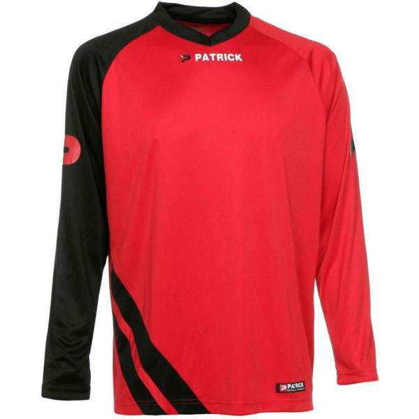 Patrick Victory Voetbalshirt Lange Mouw Heren - Rood / Zwart