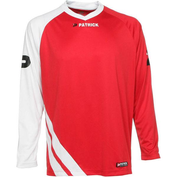 Patrick Victory Voetbalshirt Lange Mouw Heren - Rood / Wit