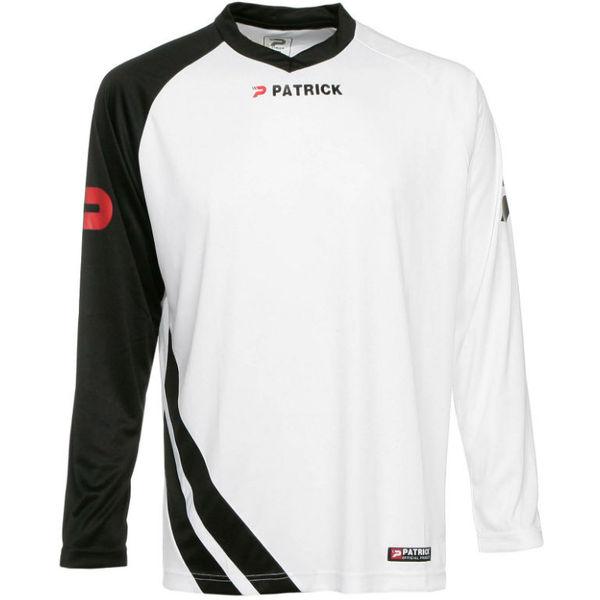 Patrick Victory Voetbalshirt Lange Mouw - Wit / Zwart
