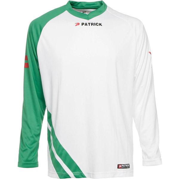 Patrick Victory Voetbalshirt Lange Mouw Heren - Wit / Groen