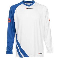 Patrick Victory Voetbalshirt Lange Mouw Heren - Wit / Royal