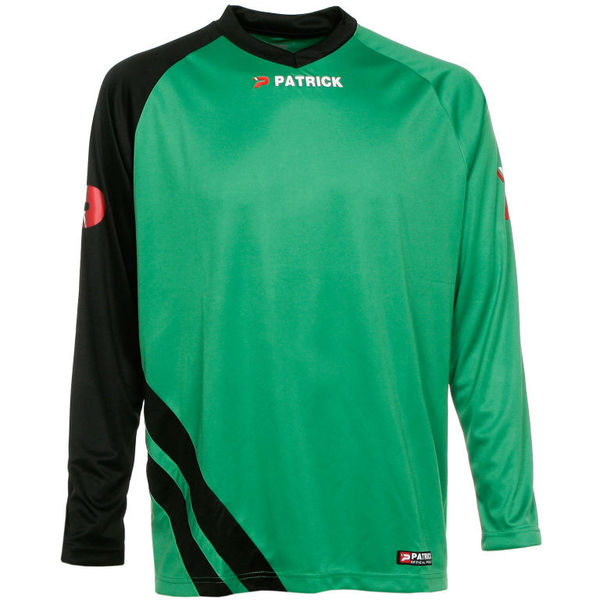Patrick Victory Voetbalshirt Lange Mouw Heren - Groen / Zwart