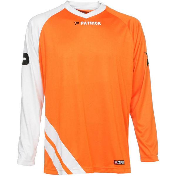 Patrick Victory Voetbalshirt Lange Mouw Heren - Oranje / Wit