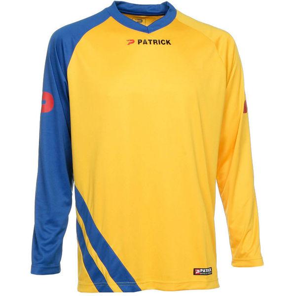 Patrick Victory Voetbalshirt Lange Mouw Heren - Geel / Royal