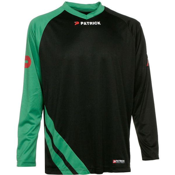 Patrick Victory Voetbalshirt Lange Mouw Heren - Zwart / Groen