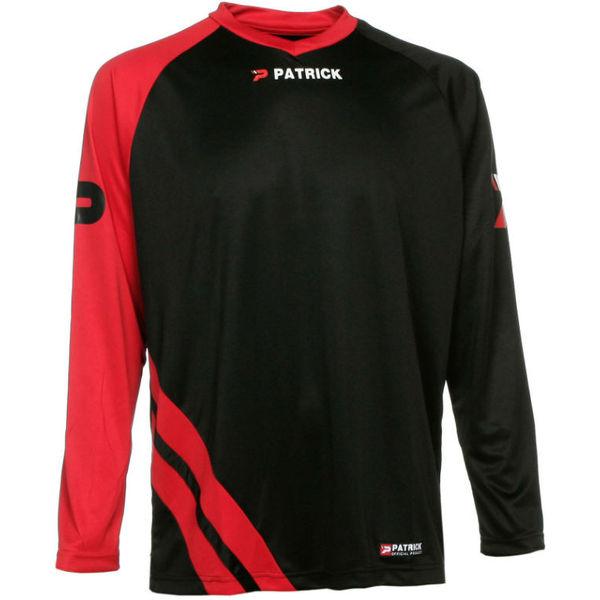 Patrick Victory Voetbalshirt Lange Mouw Heren - Zwart / Rood