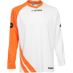 Patrick Victory Voetbalshirt Lange Mouw Heren - Wit / Oranje