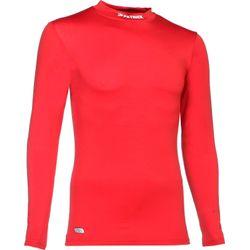 Patrick Skin Shirt Opstaande Kraag Kinderen - Rood