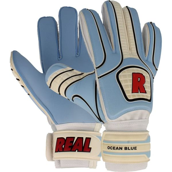 Real Ocean Blue Keepershandschoenen - Wit / Blauw / Rood