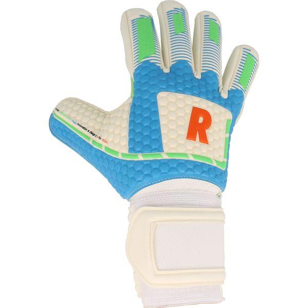 Real Greenforce Keepershandschoenen Heren - Wit / Groen / Lichtblauw / Rood