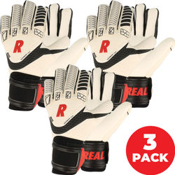 Real Power Keepershandschoenen - 3-Pack - Wit / Zwart / Rood
