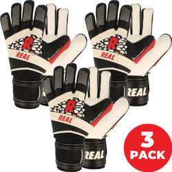 Real Active Keepershandschoenen - 3-Pack - Wit / Zwart / Rood