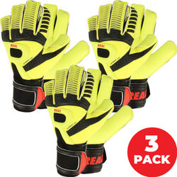 Real Vision Keepershandschoenen - 3-Pack - Fluogeel