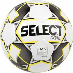 Select Futsal Master (Grain) Voetbal - Wit / Grijs / Geel