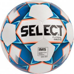 Select Futsal Mimas Football - Blanc / Marine / Orange Fluo