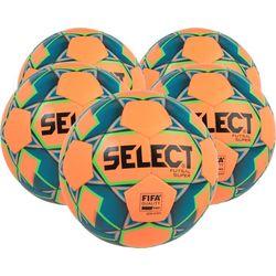 Select Futsal Super 5X Lots De Ballons - Orange / Vert Fluo