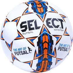 Select Futsal Master Football - Blanc / Bleu / Orange