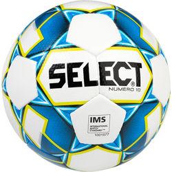 Select Numero 10 Wedstrijdbal - Wit / Lichtblauw / Zwart