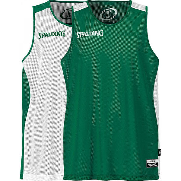 Spalding Essential Reversible Shirt Heren - Wit / Groen