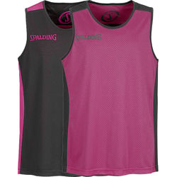 Spalding Essential Reversible Shirt - Zwart / Roze
