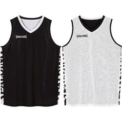 Spalding Essential 2.0 Reversible Shirt Kinderen - Zwart / Wit