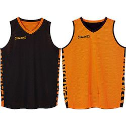 Spalding Essential 2.0 Reversible Shirt - Zwart / Oranje