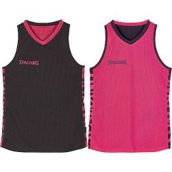 Spalding Essential 4Her Reversible Shirt Dames - Antraciet / Roze