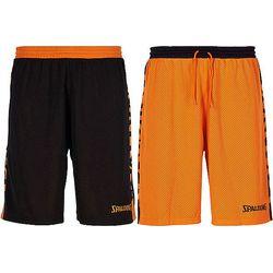 Spalding Essential 2.0 Reversible Short Heren - Zwart / Oranje