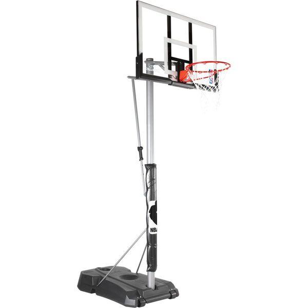 Spalding Nba Silver System Panier De Basket Mobile - Noir