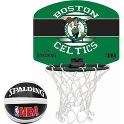Spalding Boston Celtics Mini Basketbalring + Bord - Groen / Zwart
