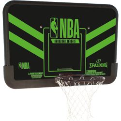 Spalding Combo Highlight Basketbalbord - Zwart / Groen