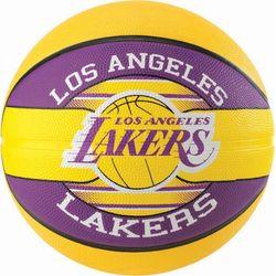 Spalding La Lakers (Size 7) Ballon De Basketball Team Hommes - Jaune / Mauve