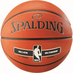 Spalding Nba Silver Series Rubber Basketball Enfants - Orange