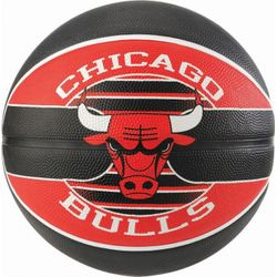 Spalding Chicago Bulls Ballon De Basketball Team - Noir / Rouge