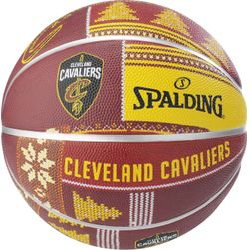 Spalding Cleveland Cavaliers Basketbal Heren - Bordeaux / Geel