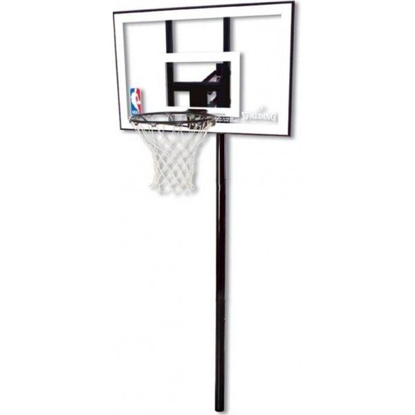"""Spalding Nba Silver """" In Ground """" Basketbalinstallatie - Zwart"""