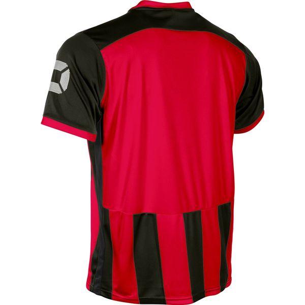 Stanno Brighton Shirt Korte Mouw Kinderen - Rood / Zwart