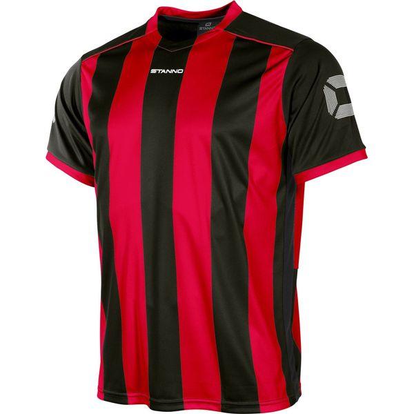 Stanno Brighton Shirt Korte Mouw - Rood / Zwart