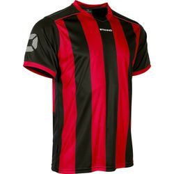 Voorvertoning: Stanno Brighton Shirt Korte Mouw - Rood / Zwart