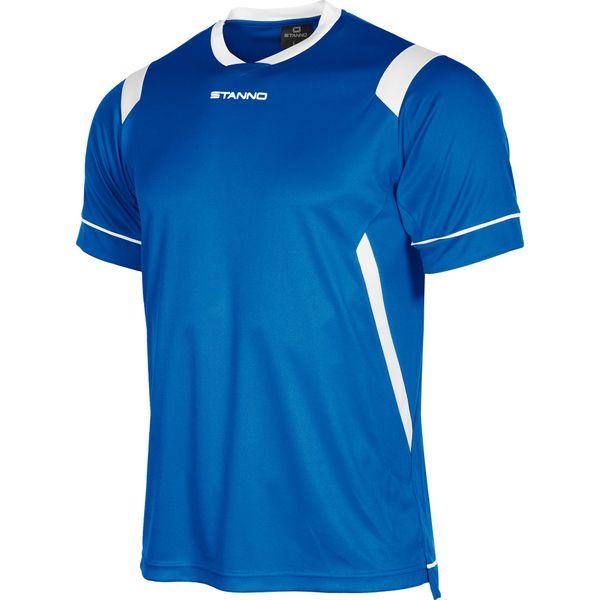 Stanno Arezzo Shirt Korte Mouw Kinderen - Royal / Wit