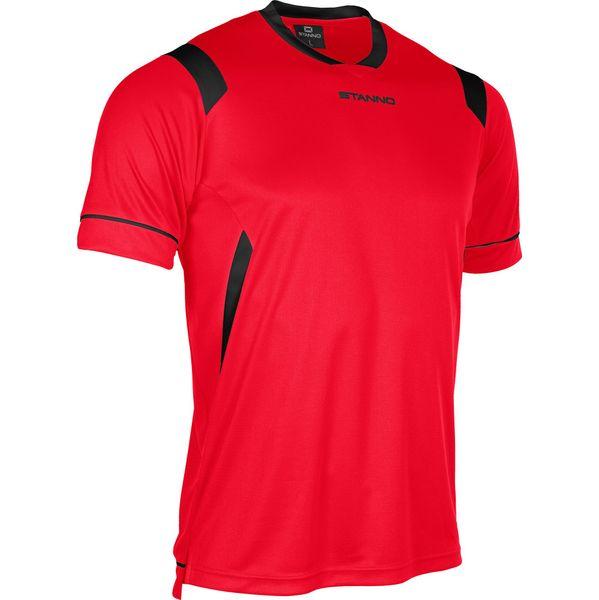 Stanno Arezzo Shirt Korte Mouw Kinderen - Rood / Zwart